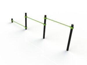 Triple push-up bars Image